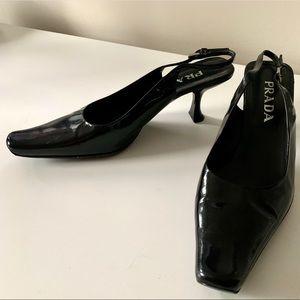 PRADA Vintage 90's Black Slingback heel
